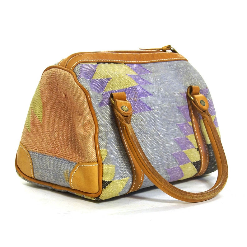 da765dd1c2d Kilim Handbag Vintage Small Woven Southwestern Tapestry Carpet