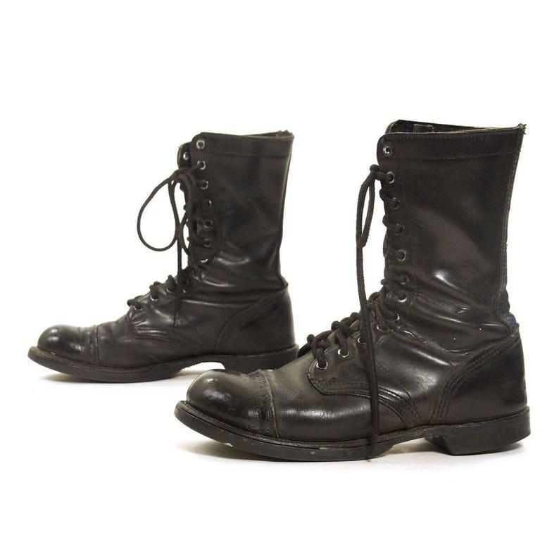 343154cd77769 Buty Corcorany czarny buty koronki kobiety lata 80-tych obuwie | Etsy