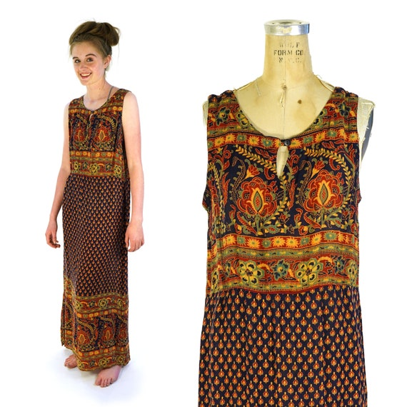 Indian Cotton Sundress by Phool Vintage 70s Boho S