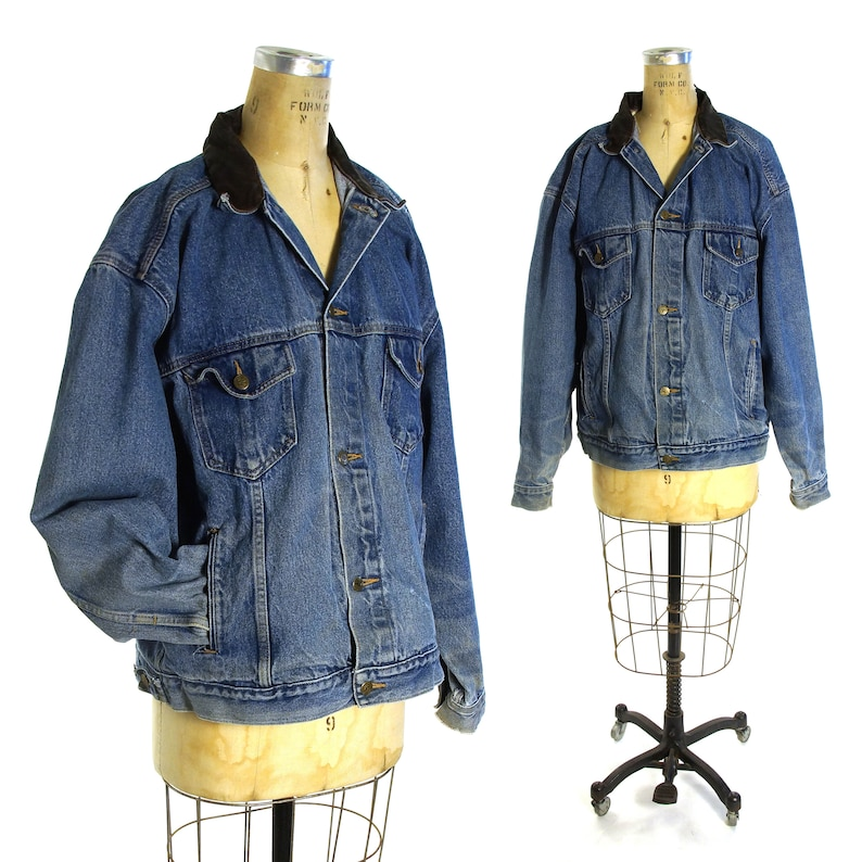 d23a49d0 Distressed Denim Jacket Vintage 80s Classic Trucker Jeans | Etsy