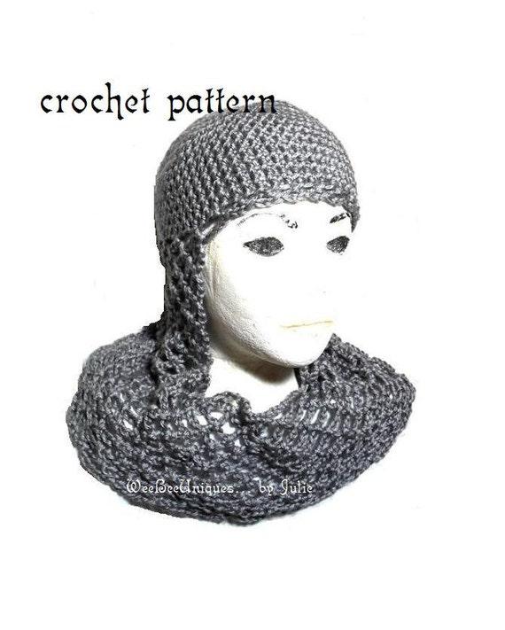 Crochet Pattern Digital Download Chainmail Coif Knight Helmet Etsy