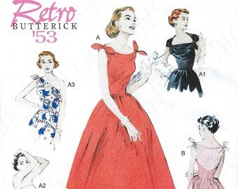 3847 UNCUT Vintage Butterick SEWING Pattern Misses Close Fitting Lined Dress OOP