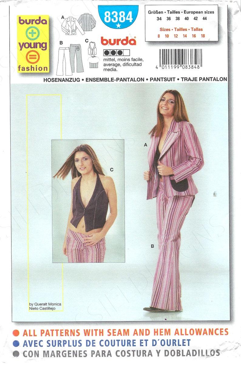Uncut Burda sewing pattern 8384 Jacket and pants size 8-10-12-14-16-18  FF