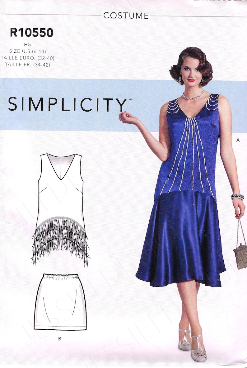 1920s Patterns – Vintage, Reproduction Sewing Patterns Uncut Simplicity Sewing Pattern 10550 9088 1920