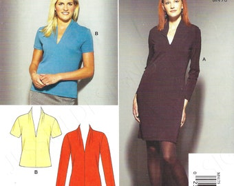 Uncut mccalls Sew sewing pattern Easy Stitch 'n Save McCALL'S Pattern M9175 ~ Misses'/Miss Petite Dresses top size xs-s-m-l-xl FF