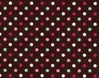 Michael Miller Chocolate Ice Cream Dot, 1 Yard