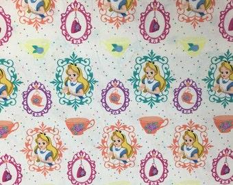 Disney Alice in Wonderland White Fabric, 1 Yard