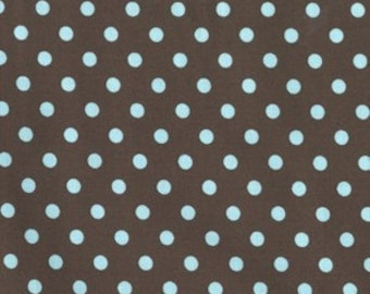 MIchael Miller Dumb Dot Brown Background Teal Dot 1 Yard