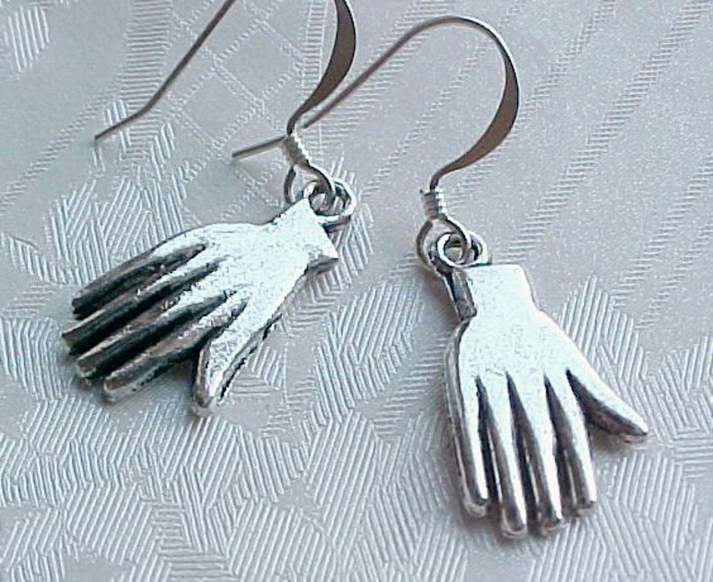 Hands Earrings Hand Amulet Earrings Irish Claddagh Earrings image 0
