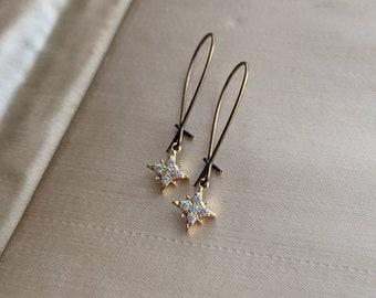 Tiny North Star earrings ... sweet and small