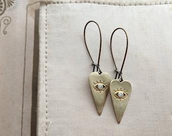 All Seeing Heart earrings