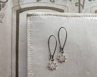 Octogram Star earrings ... sweet and small