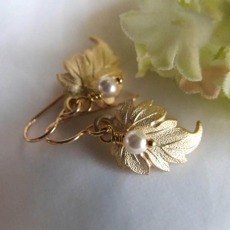 Windswept Golden Leaves Earrings