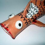 Goldfish Koi Ceramic Sculpture/Stoneware Fish ON SALE