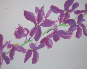 Orchid Watercolor, 14 in X 17 in