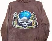 Adult Skull Pacific Northwest Batik Hoodie