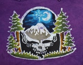 GD Steal Your Face Pacific Northwest  Redwood Trees Moon and Star Handmade Batik  T-shirt