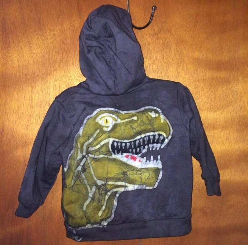 9a93b8b82 Handmade Batik T-Rex Dinosaur Hoodie Baby Boy Baby Clothes