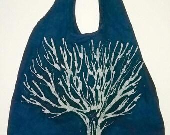 Handmade Batik Tree Tote Bag