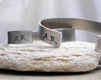 Men's Monogrammed Cuff Bracelet / Personalized Gift for Him / Men's Fashion