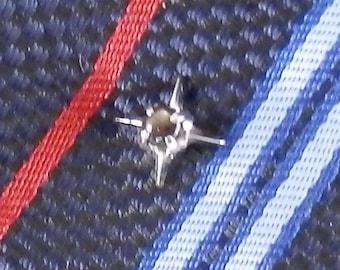 Blue Stone Tie Tack Blue Moonstone Tie Tack 10x8 Moonstone Tie Tack Blue Tie Tack 925 Sterling Silver Setting