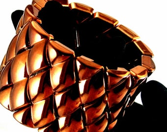 Large Copper Cuff Bracelet Copper Bracelet Vintage 80 Bracelet 9 Inch Copper Cuff Wide Copper Bracelet Wrist Bracelet