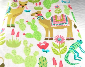 Pink and Green Sanctuary Cotton Fabric By Patty Young 30 x 44 Destash Fabric Sewing Fabric Quilt Fabric Craft Fabric