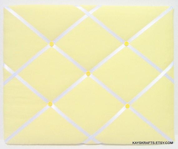 Yellow Memory Board Memo Board Fabric Ribbon Memo Bulletin Etsy