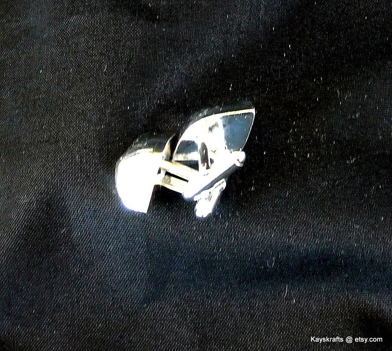 Silver Cuff Links Gift For Him Tuxedo Accessory Vintage Hickok Silver Cuff Links