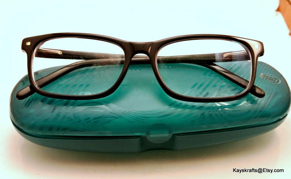 Zenni Brillen und blauen Kunststoff Gehäuse Vintage Brille   Etsy