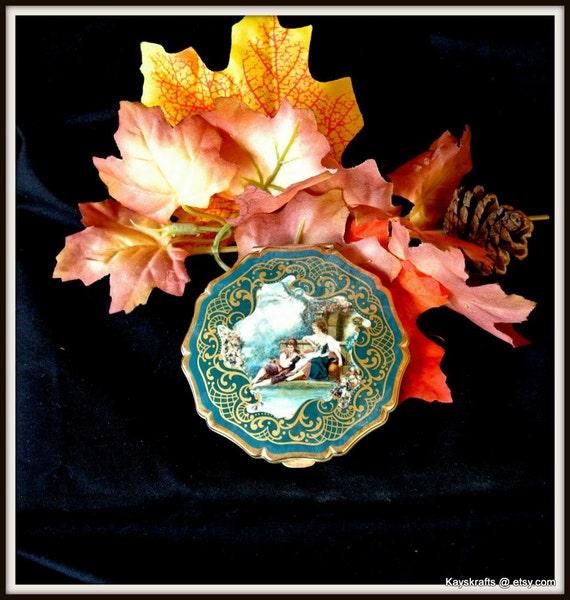 Mirror Compact, Powder Compact, Vintage Victorian