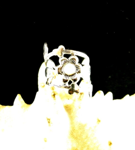 Sterling Silver Moonstone Ring Silver Statement Ri
