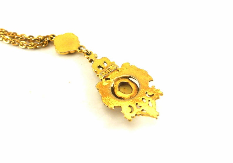 Yellow and gray wax Fatoumata bronze gem cabochon ethnic African woman necklace