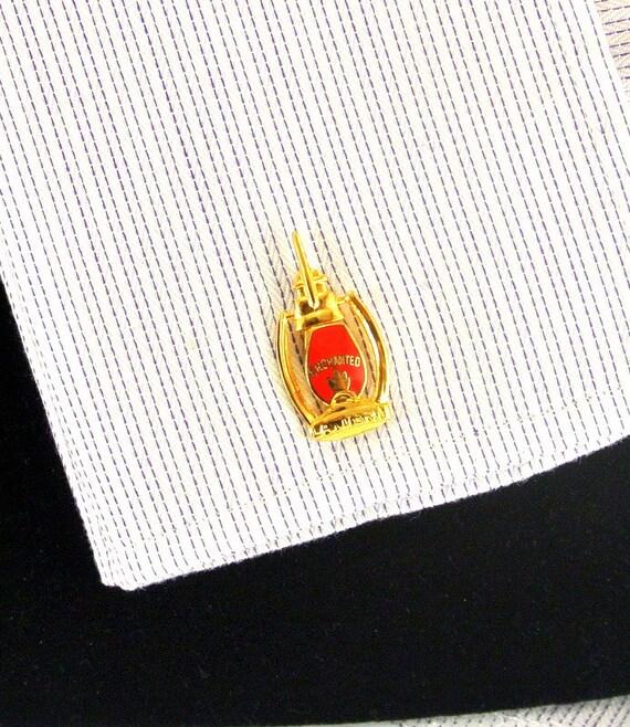 Enchanted Lantern Cuff Links Masonic MOVPER 10kt C