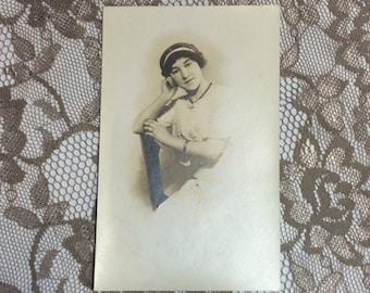 Edwardian Lady Sepia Photo Postcard, Vintage Collectible Paper Ephemera Photograph Post Card, Buffalo NY