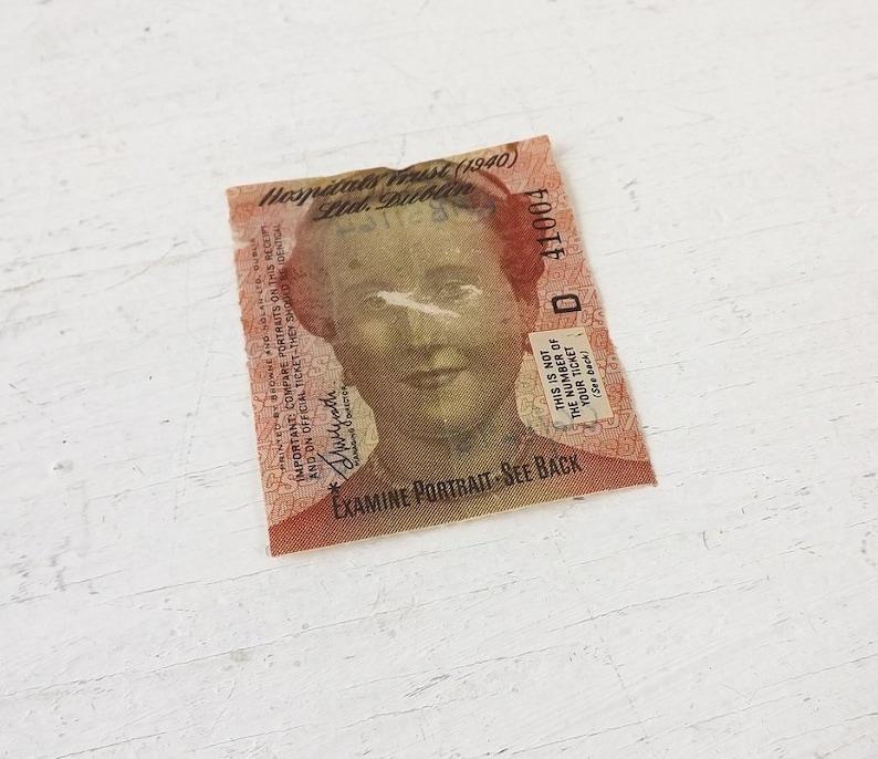 1957 Irish Hospitals Sweepstakes Ticket, collectible paper ephemera,  Ireland memorabilia