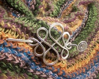 Shawl Pin, Celtic Knot, Scarf Accessory, Shawl Accessory, Fastener, SP2