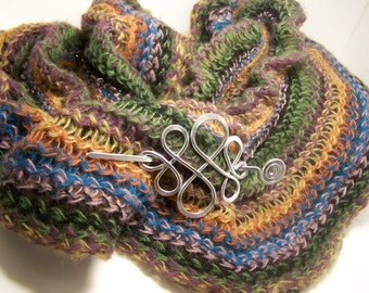 Brooch for Wraps, Sweaters,  Scarves, Celtic Design SP2