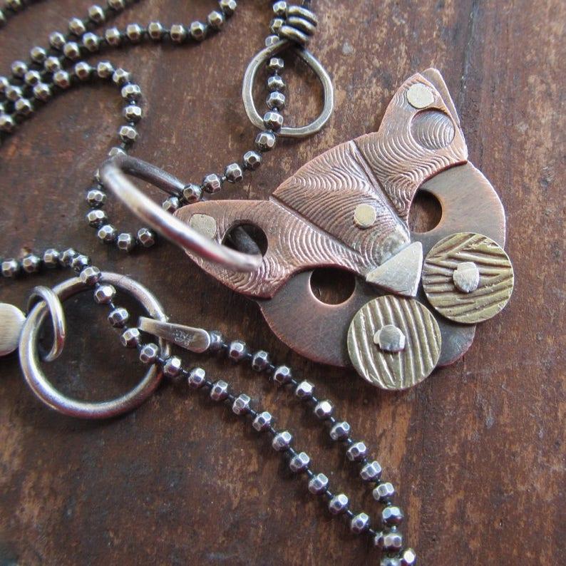 c43bf5cccaa5 Mixte métal chat collier chat bijoux argent rivetées chat
