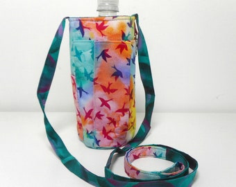 Water Bottle Purse, Bird Water Bottle Sling