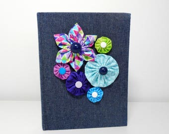 Denim Journal, Flowers and Denim Book, Denim Sketchbook