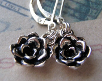 Silver Resilience Earrings Sterling Silver Ear Wires Tierracast Succulent Charm