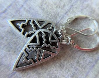 Silver Earrings Southwestern Arrow Charm Sterling Silver Ear Wires