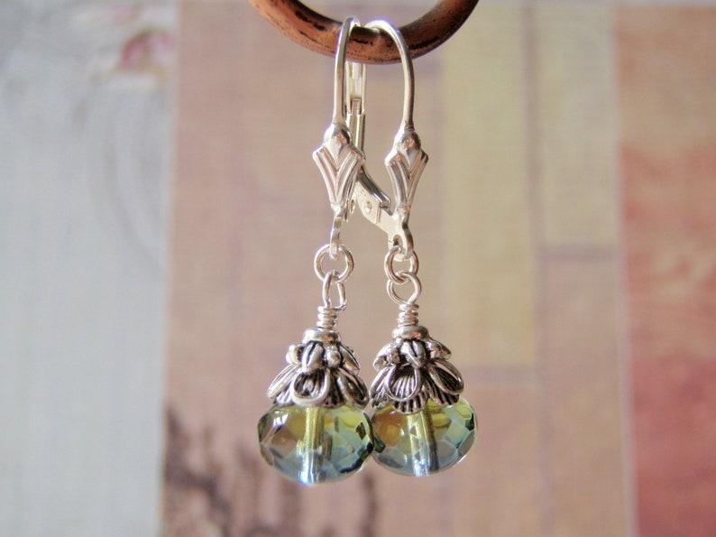 Sea Witch Earrings Style  2 Sterling Silver Leverback Ear image 0