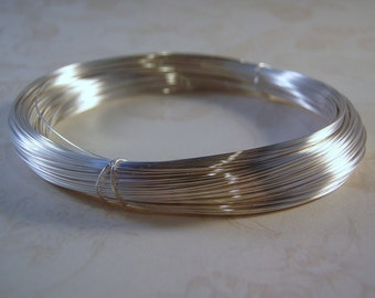 Sterling Silver Filled Round Wire Brass Core .925 1/10 Fill Gauges 14 to 28 COILED Dead Soft or Half hard