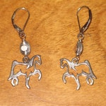Sterling Horse Earrings