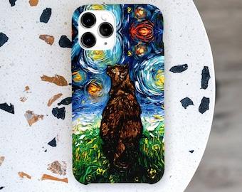 Tortoiseshell Cat Starry Night Premium Phone Case Cats Lover Art By Aja Choose Iphone Samsung Google Pixel Lifetime Guarantee