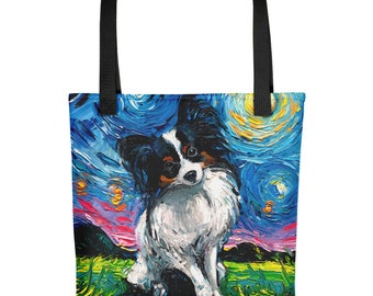 PAPILLON embroidered tote bag ANY COLOR