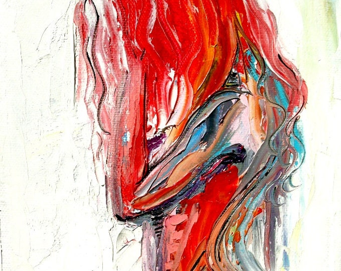 Abstract Nude print colorful art by Aja The Only Shadow Was