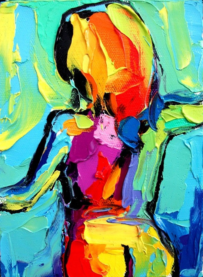 Abstract nude print by Aja Femme 101 9x12 inches or 18x24